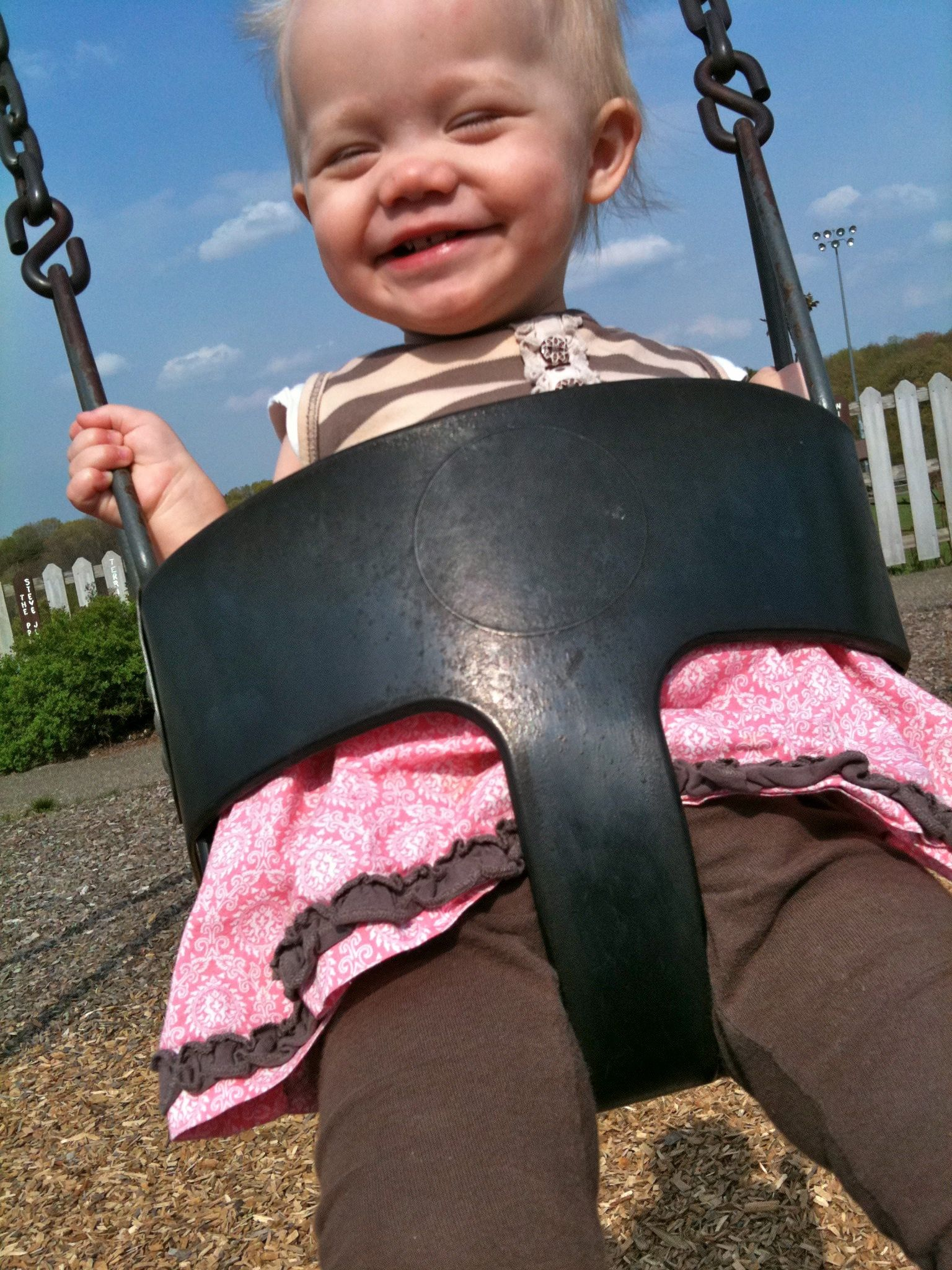 Swinging at Blueberry Hill Park