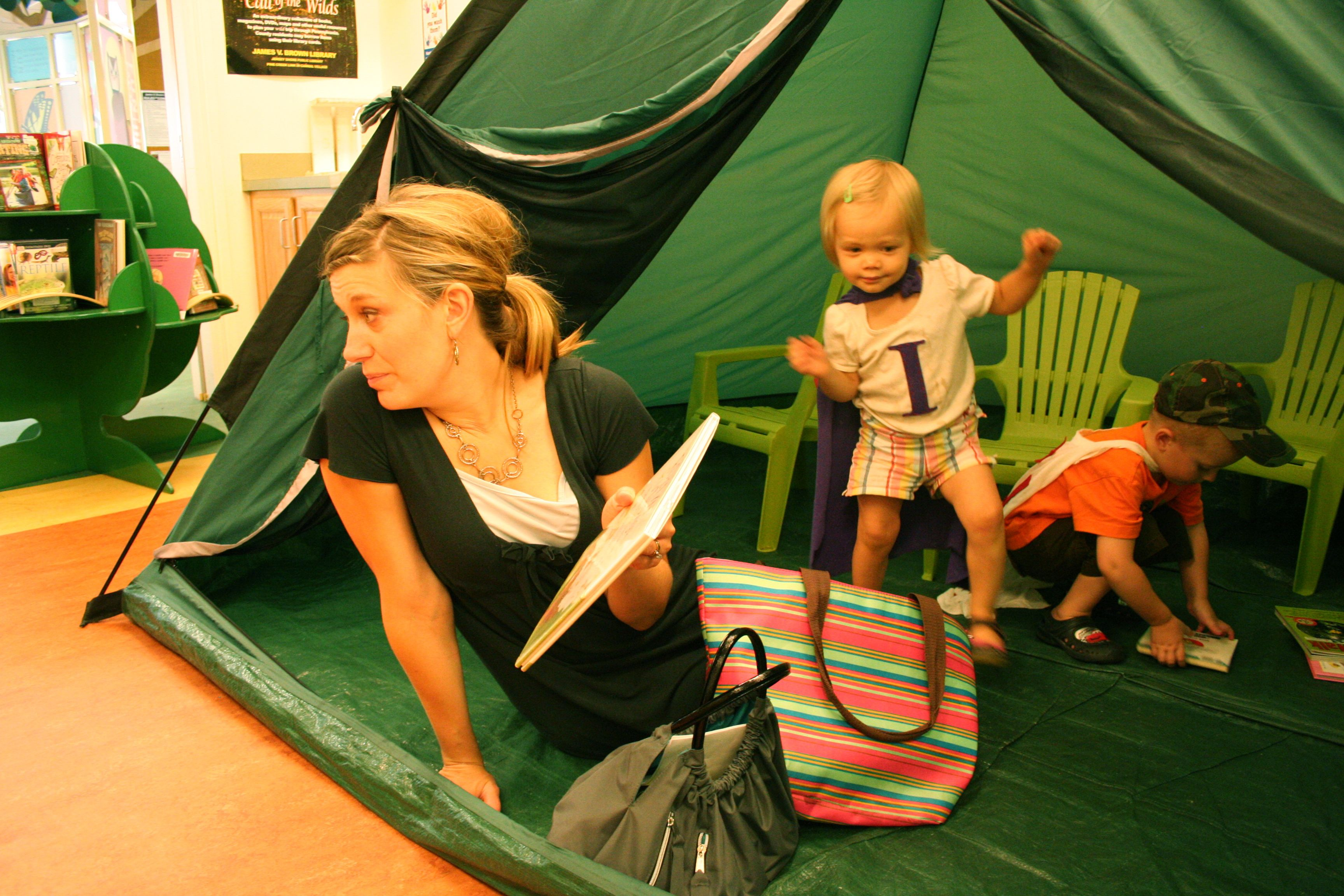 James V Brown Library reading tent