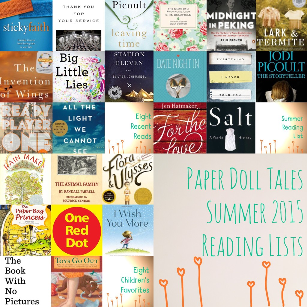 Summer 2015 Reading Lists | Paper Doll Tales